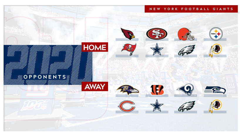 Calendrier Nfl 2021 New York Giants 2020 Schedule Opponents