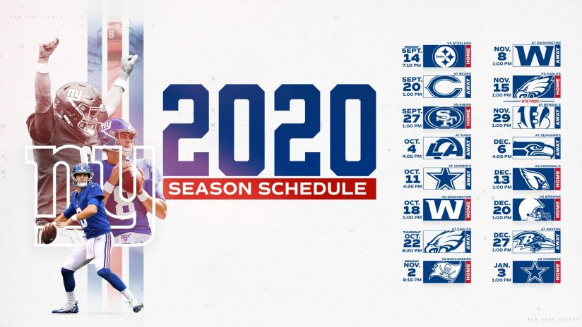 2020 Nfl Strength Of Schedule Giants Have Seventh Easiest Path