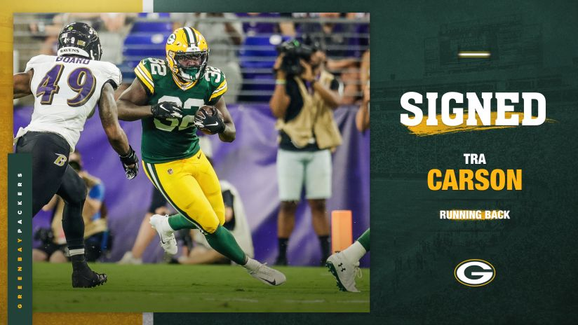 Packers sign RB Tra Carson to active roster from practice squad