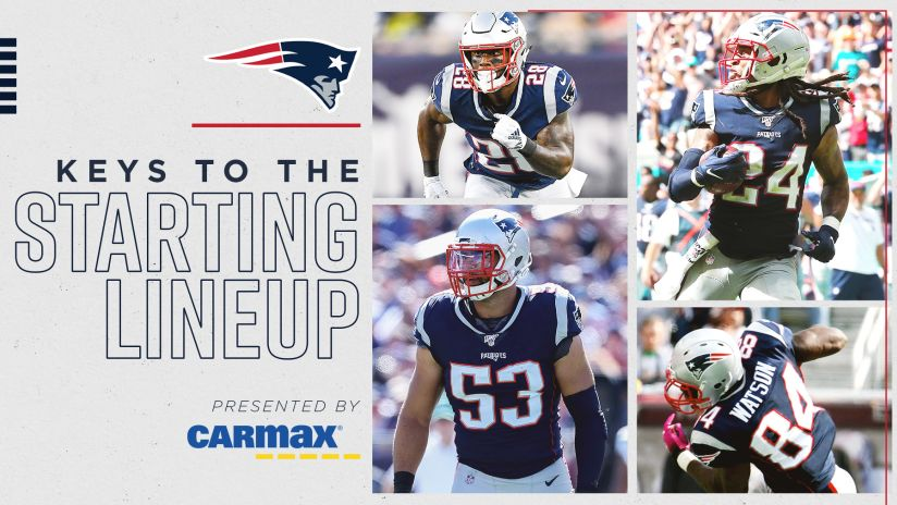 Keys To The Starting Lineup Presented By Carmax Patriots Vs Browns