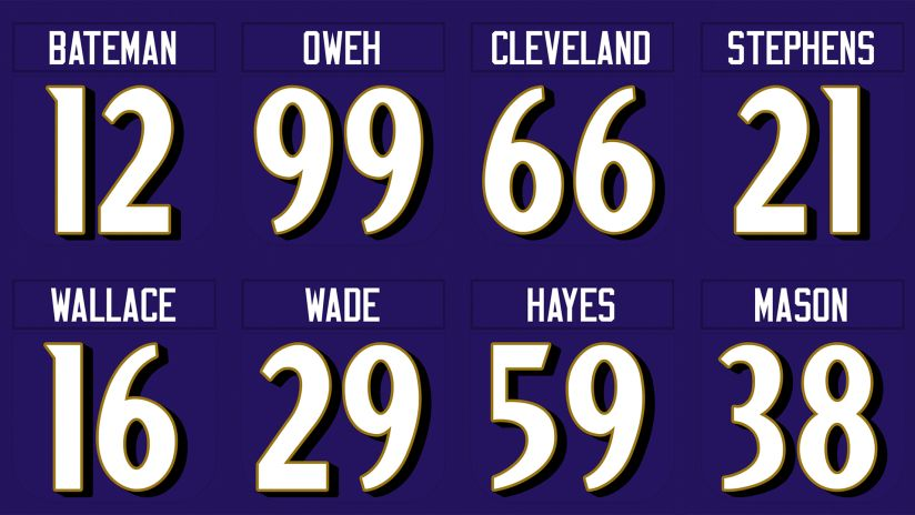 Ravens Announce Official Rookie Jersey Numbers