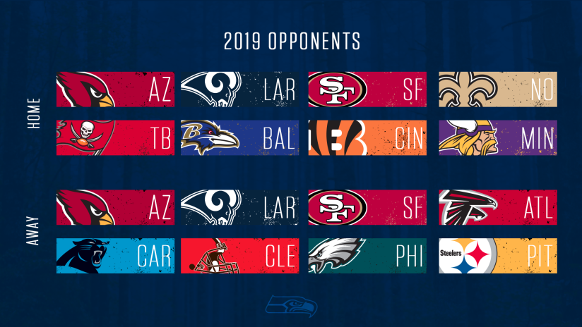 49ers Home Schedule 2020.Seahawks 2019 Opponents Set