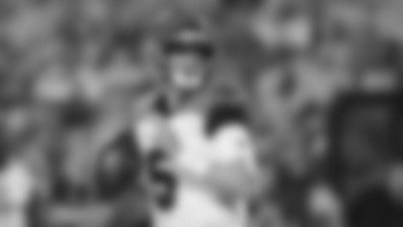 Cincinnati Bengals quarterback Ryan Finley (5) drops back to passduring an NFL preseason football game against the Washington Redskins on Thursday, Aug. 15, 2019 in Landover, Md.