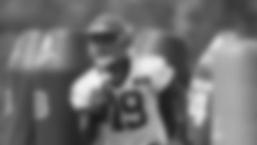 Cincinnati Bengals wide receiver Auden Tate (19) participates in the NFL football team's rookie minicamp, Friday, May 11, 2018, in Cincinnati. (AP Photo/John Minchillo)