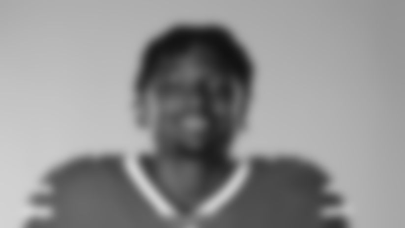 This is a 2020 photo of Josh Thomas of the Buffalo Bills NFL football team. This image reflects the Buffalo Bills active roster as of July 26, 2020 when this image was taken.  (AP Photo)