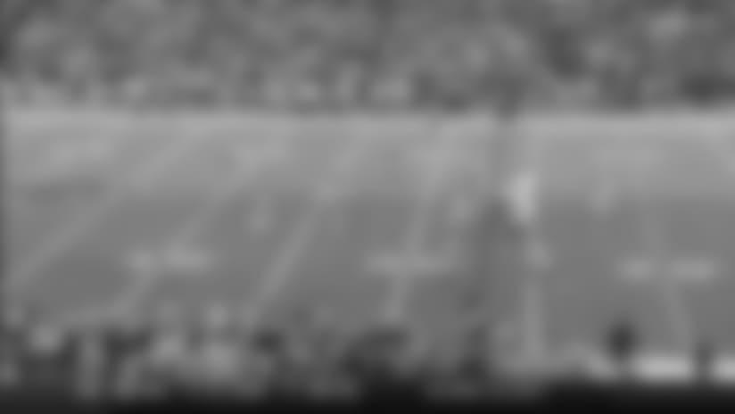 Taron Johnson records first career interception