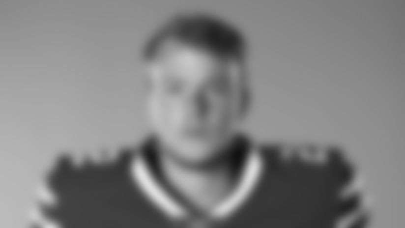 This is a 2020 photo of Tyler Bass of the Buffalo Bills NFL football team. This image reflects the Buffalo Bills active roster as of July 26, 2020 when this image was taken.  (AP Photo)