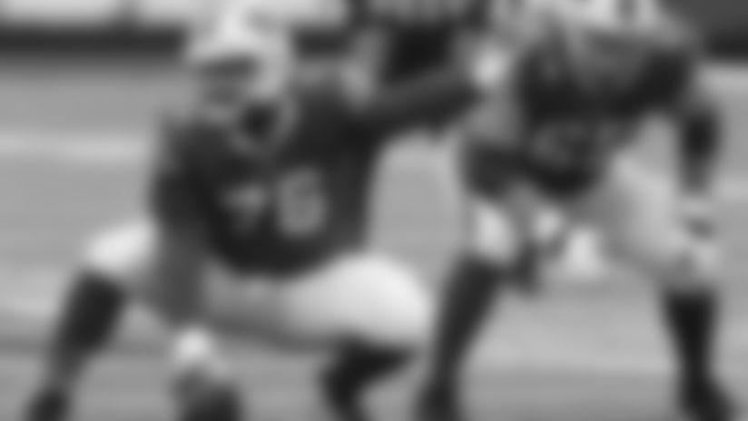Buffalo Bills vs New England Patriots on November 1, 2020 at Bills Stadium. Jon Feliciano (76). Photo by Craig Melvin.