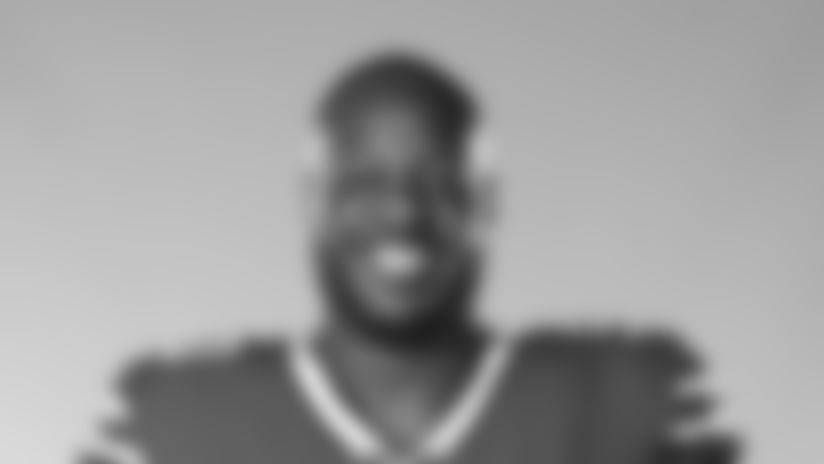 This is a 2020 photo of Quinton Jefferson of the Buffalo Bills NFL football team. This image reflects the Buffalo Bills active roster as of July 28, 2020 when this image was taken.  (AP Photo)