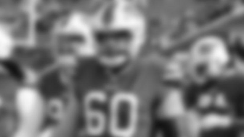 Buffalo Bills center Mitch Morse (60) Buffalo Bills vs Denver Broncos, November 24, 2019 at New Era Field. Photo by Bill Wippert