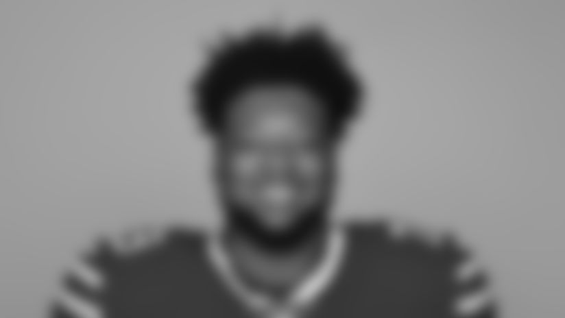 MAY 1, 2018, Orchard Park, NY: This is a 2018 photo of De'Ondre Wesley of the Buffalo Bills NFL football team.  This image reflects the Bills active roster as of 5/2/18 when this image was taken.  (AP Photo)