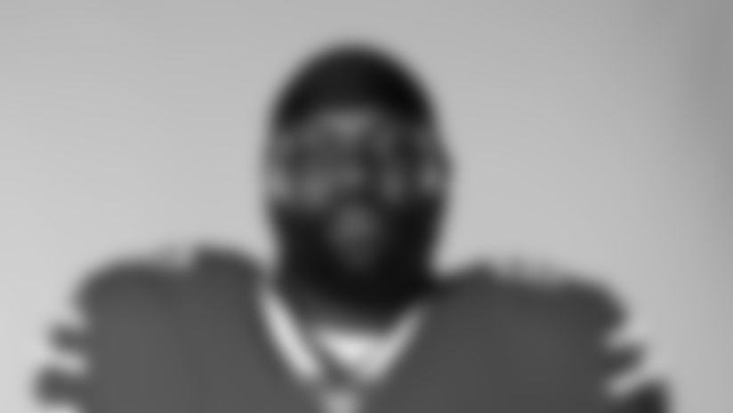 This is a 2020 photo of Quinton Spain of the Buffalo Bills NFL football team. This image reflects the Buffalo Bills active roster as of August 1, 2020 when this image was taken.  (AP Photo)
