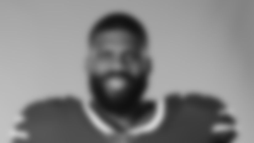 This is a 2020 photo of Daryl Williams of the Buffalo Bills NFL football team. This image reflects the Buffalo Bills active roster as of August 1, 2020 when this image was taken.  (AP Photo)