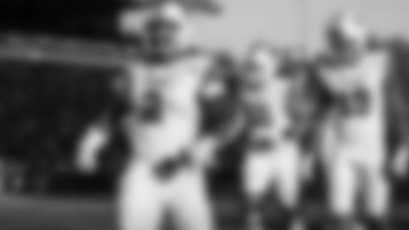 Utah running back Zack Moss (2) celebrates after scoring a touchdown during the second half of an NCAA college football game against Washington, Saturday, Nov. 2, 2019, in Seattle. Utah won 33-28. (AP Photo/Stephen Brashear)