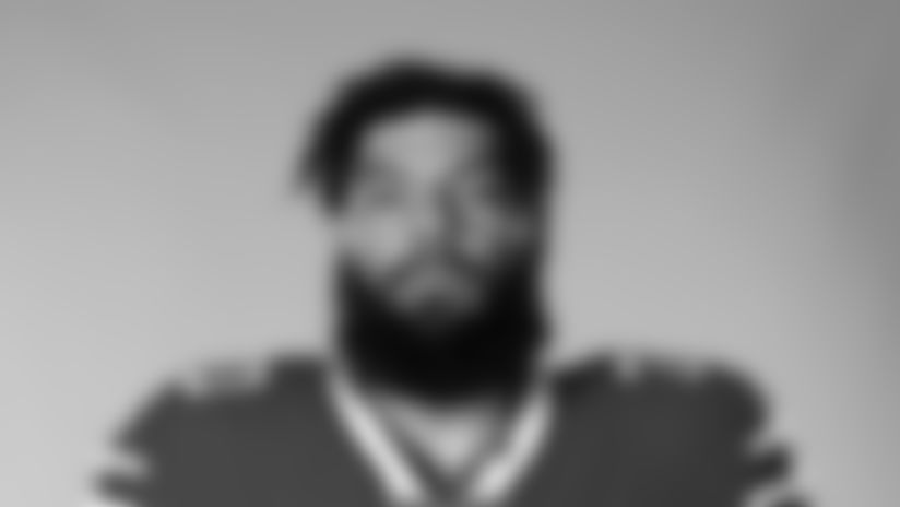 This is a 2020 photo of Cody Ford of the Buffalo Bills NFL football team. This image reflects the Buffalo Bills active roster as of August 1, 2020 when this image was taken.  (AP Photo)