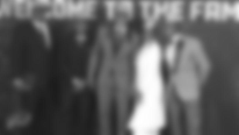 Ferrell Edmunds (Father), Trey Edmunds, Tremaine Edmunds, Cookie Edmunds and Terrell Edmunds at the 2018 NFL Draft.