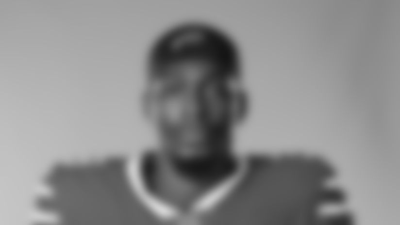 This is a 2020 photo of Ike Brown of the Buffalo Bills NFL football team. This image reflects the Buffalo Bills active roster as of August 1, 2020 when this image was taken.  (AP Photo)