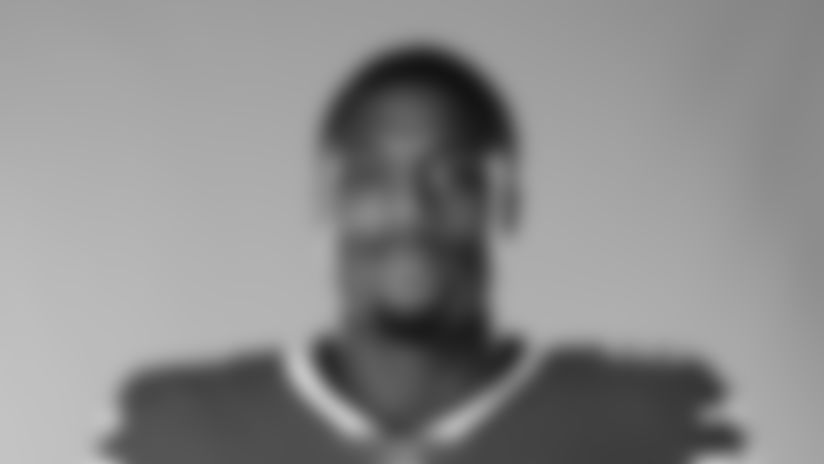 This is a 2020 photo of Jason Croom of the Buffalo Bills NFL football team. This image reflects the Buffalo Bills active roster as of August 1, 2020 when this image was taken.  (AP Photo)