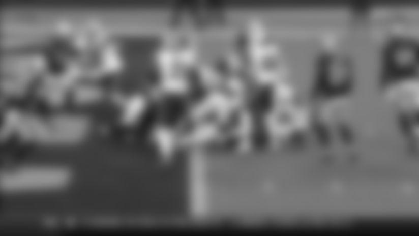 Josh Allen rushes for a 1-yard touchdown vs. Las Vegas Raiders
