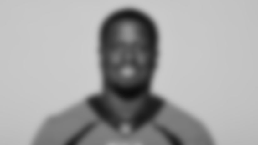 This is a 2021 photo of Jonathan Harris of the Denver Broncos NFL Football team.