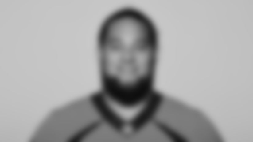 This is a 2021 photo of Mike Purcell of the Denver Broncos NFL Football team.