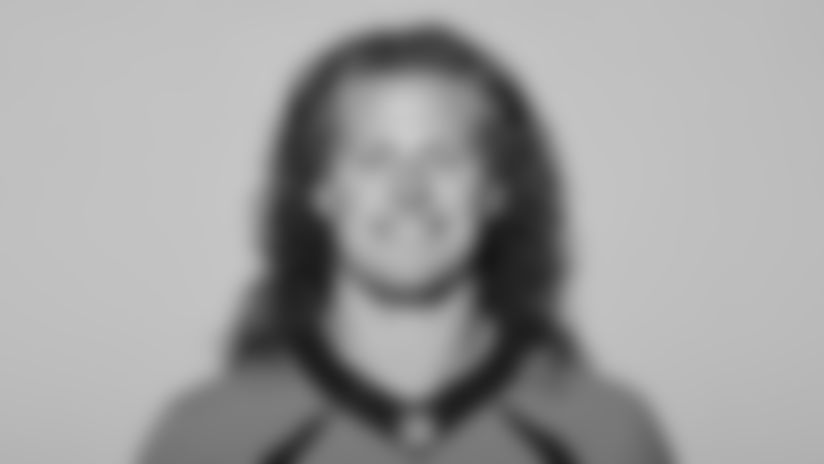 This is a 2021 photo of Derrek Tuszka of the Denver Broncos NFL Football team.