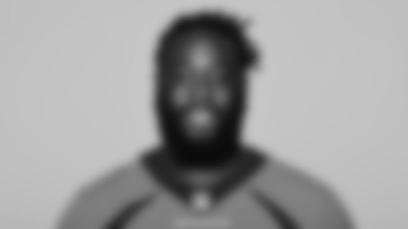 This is a 2021 photo of McTelvin Agim of the Denver Broncos NFL Football team.