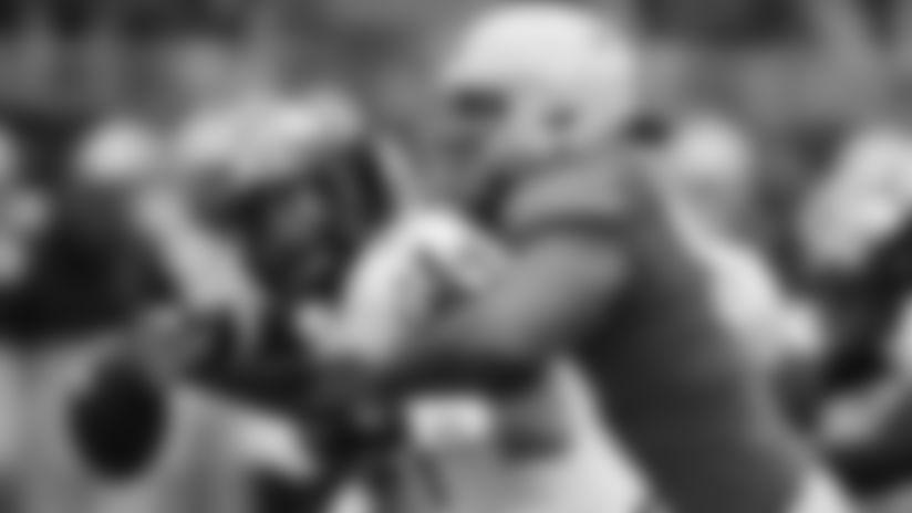 Ohio State defensive lineman Davon Hamilton, right, sacks Maryland quarterback Josh Jackson during the first half of an NCAA college football game, Saturday, Nov. 9, 2019, in Columbus, Ohio. (AP Photo/Jay LaPrete)
