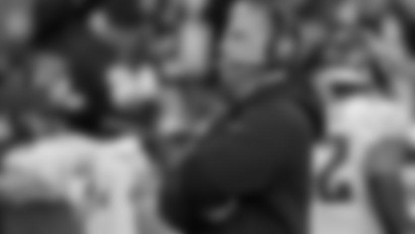 Philadelphia Eagles defensive coordinator Jim Schwartz stands on the sideline prior to an NFL football game against the Washington Redskins, Sunday, Dec. 30, 2018, in Landover, Md. (AP Photo/Mark Tenally)