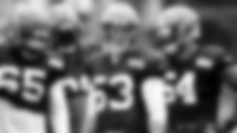 Linebacker Joe Schobert (53) during the fourteenth day of camp on August 12, 2019.