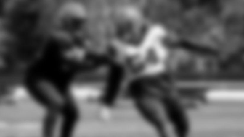 Defensive end Olivier Vernon (54) during practice on September 4, 2019