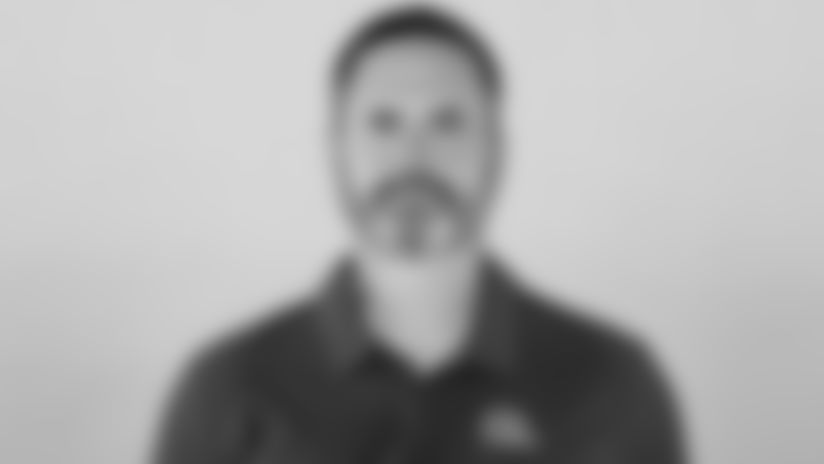 This is a 2021 photo of Mike Priefer of the Cleveland Browns NFL football team. This image reflects the Cleveland Browns active roster as of April 14, 2021 when this image was taken.
