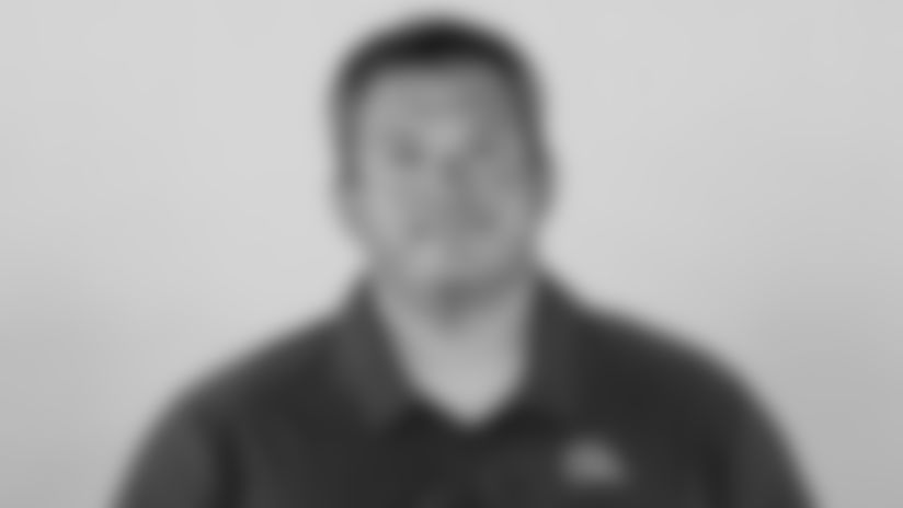 This is a 2021 photo of Chris Kiffin of the Cleveland Browns NFL football team. This image reflects the Cleveland Browns active roster as of April 14, 2021 when this image was taken.