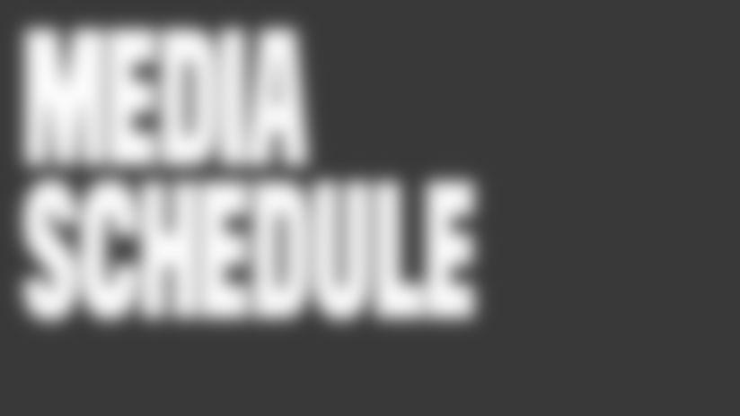 Buccaneers Media Schedule - Week of 8-10