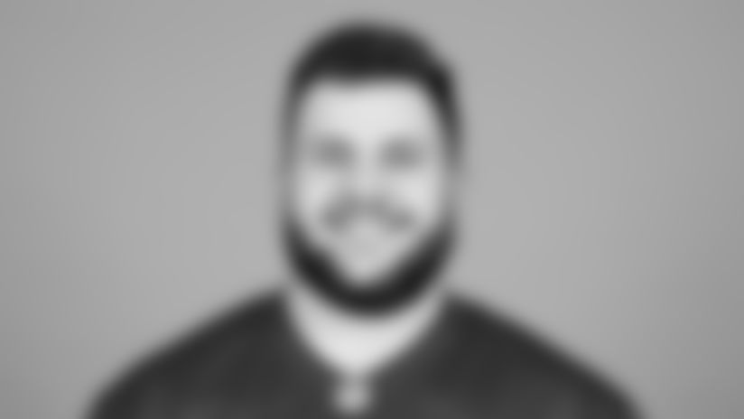 TAMPA, FL - May 13, 2021 - Offensive lineman Robert Hainsey #70 of the Tampa Bay Buccaneers headshot taken at AdventHealth Training Center. Photo By Kyle Zedaker/Tampa Bay Buccaneers