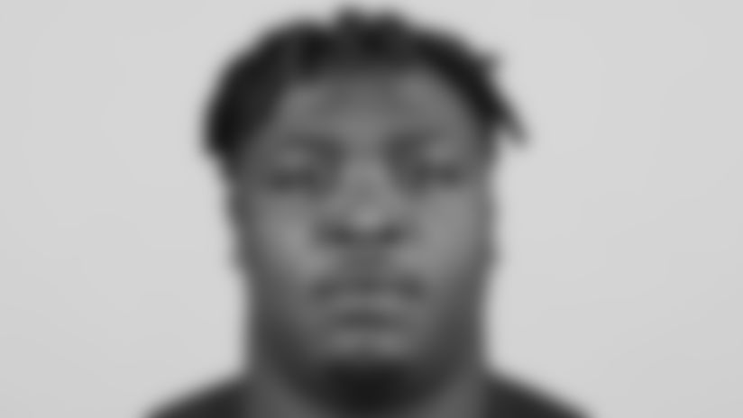 Nebraska defensive tackle Khalil Davis poses for a headshot during the 2020 NFL Scouting Combine, Wednesday, Feb. 26, 2020 in Indianapolis. (Ben Liebenberg via AP)