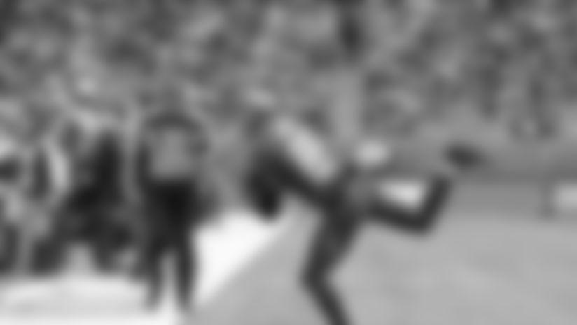 LONDON, UK  - OCTOBER 13, 2019 - Wide Receiver Bobo Wilson #85 of the Tampa Bay Buccaneers during the game between the Carolina Panthers and Tampa Bay Buccaneers at Tottenham Hotspur Stadium. The Buccaneers lost the game, 37-26. Photo By Mike Carlson/Tampa Bay Buccaneers