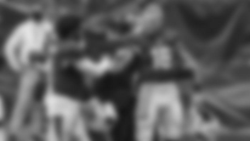 Quarterbacks Kyler Murray (left) and Chris Streveler fist-bump before a recent home game.