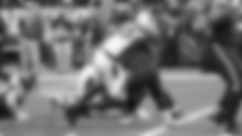 Linebacker Chandler Jones makes one of his four sacks against Seahawks quarterback Russell Wilson in Seattle.