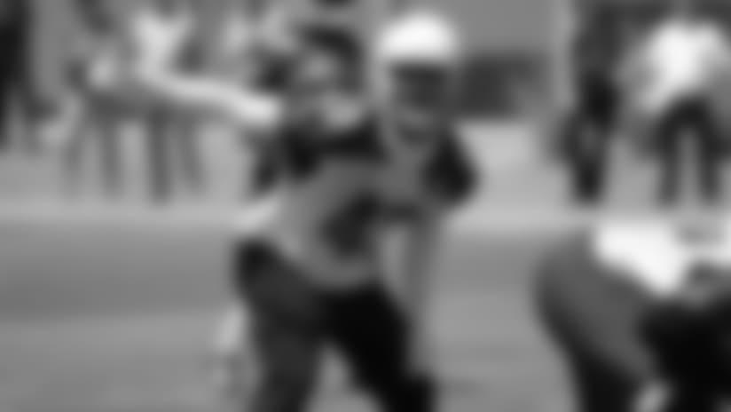 LB Haason Reddick during an offseason practice.