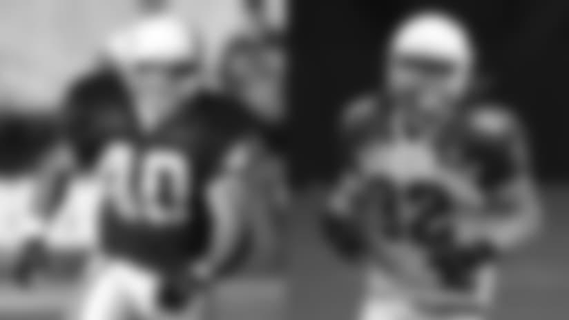 Former Cardinals safety Pat Tillman (left) and current linebacker Dennis Gardeck.
