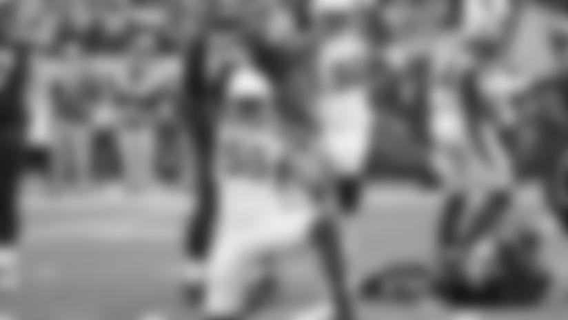 OLB Chandler Jones celebrates one of his sacks against the Seahawks.