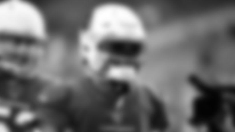 QB Kyler Murray and his pregame swag visor 2019