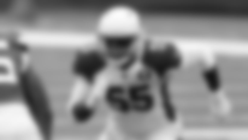 Arizona Cardinals outside linebacker Chandler Jones in a regular season game against the New York Jets on Sunday, October 11, 2020.