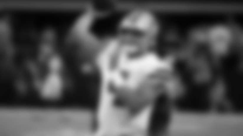 Dallas Cowboys' Dak Prescott (4) throws a pass during warm ups before an NFL football game against the Philadelphia Eagles on Sunday, Nov. 19, 2017, in Arlington, Texas. (AP Photo/Ron Jenkins)