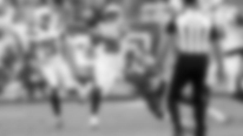 Uchenna Nwosu's Pressure Forces Ryan Tannehill into Interception by Roderic Teamer