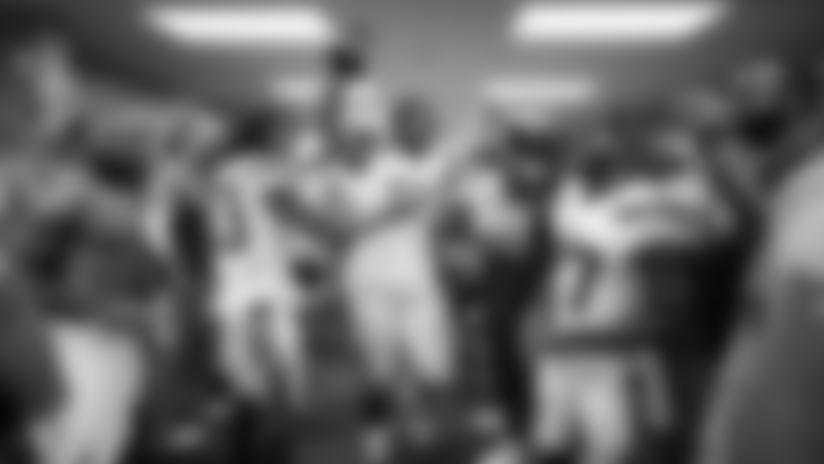 Photos: Bolts Celebrate Overtime Victory vs. Colts