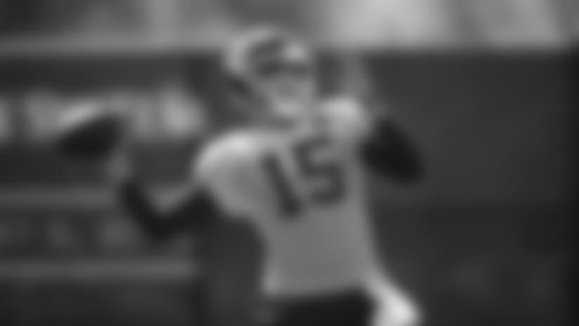 Kansas City Chiefs quarterback Patrick Mahomes (15) during practice on 9/19/18