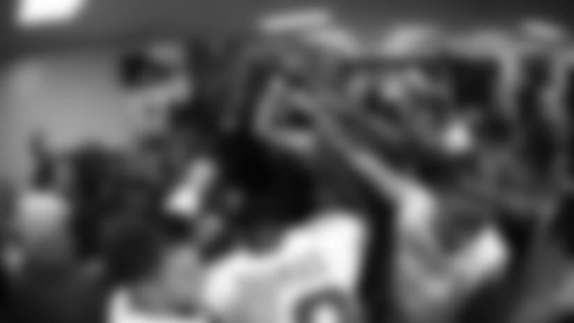 Chiefs vs. Patriots: Locker Room Celebration