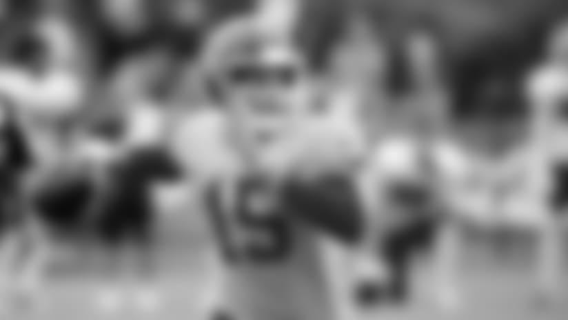Kansas City Chiefs quarterback Patrick Mahomes (15) during practice on 7/28/18 at Chiefs Training Camp at Missouri Western State University in St. Joseph, Missouri.